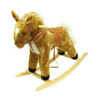 Happy Trails - Plush Rocking Horse - Recommended Weight Limit: 80 lbs.. Seat Height: 18 in.. Ages: 2 years and up. Color: Brown. 28.75 in. L x 12 in. W x 26 in. H (10 lbs.)