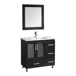 "Design Element - Design Element B36-DS Stanton 36"" Single Sink Vanity Set in Espresso - Design Element B36-DS Stanton 36"" Single Sink Vanity Set in Espresso"
