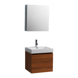 Virtu USA - 24in. Zuri Single Sink Bathroom Vanity - Plum - This ultra-modern vanity is the perfect addition to any bathroom upgrade. Featuring a magnificent finish and a high gloss polymarble basin for an easy clean, you can't go wrong with this vanity. Featuring two drawers on Bellucci soft closing sides, this vanity has not only design, but practicality as well.