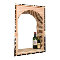 Wine Cellar Innovations - Vintner Series Wine Rack - Archway & Table Top Insert - Create a focal point in your wine room with an Archway and Table Top insert kit. This wine room component is designed to fit with in the Vintner Series Individual 130 Bottle Capacity Bottle Kit (INDGT), only, and will not stand alone with out it. The archway will create a backdrop for your favorite art piece, and the table top adds functional working space with in your wine cellar. It is also best complimented with a Center Trim molding kit. Moldings and platforms sold separately. Assembly required.