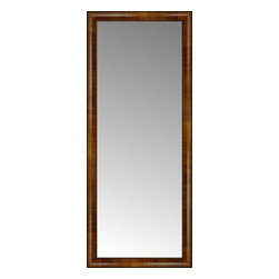 """Posters 2 Prints, LLC - 21"""" x 50"""" Belmont Light Brown Custom Framed Mirror - 21"""" x 50"""" Custom Framed Mirror made by Posters 2 Prints. Standard glass with unrivaled selection of crafted mirror frames.  Protected with category II safety backing to keep glass fragments together should the mirror be accidentally broken.  Safe arrival guaranteed.  Made in the United States of America"""
