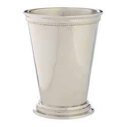 Large Mint Julep Votive - Not everyone can sip juleps at Churchill Downs, but you can use the famous mint julep cup to store odds and ends. I use one for makeup brushes.