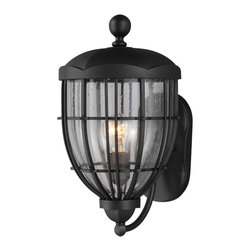 Murray Feiss - Murray Feiss OL9802TXB River North 1 Bulb Textured Black Outdoor Lantern - Murray Feiss OL9802TXB River North 1 Bulb Textured Black Outdoor Lantern