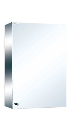 Renovators Supply - Medicine Cabinets Bright Stainless Steel Medicine Cabinet 23 5/8'   13518 - Maximize storage in style, this exquisite medicine cabinet is 100% stainless steel inside and out. The perfect investment for any bathroom. Overall measures: 23 5/8 inch H x 15 inch W x 5 3/8 inch projection.