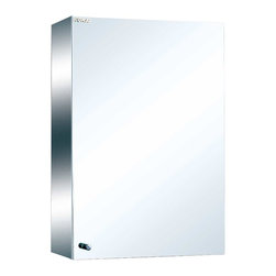 Renovators Supply - Medicine Cabinets Bright Stainless Steel Medicine Cabinet 23 5/8' | 13518 - Maximize storage in style, this exquisite medicine cabinet is 100% stainless steel inside and out. The perfect investment for any bathroom. Overall measures: 23 5/8 inch H x 15 inch W x 5 3/8 inch projection.