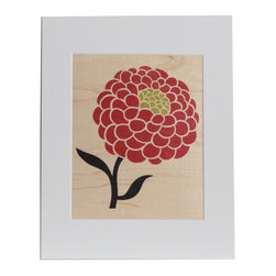 nest PURE by PURE Inspired Design - Big Flower Wood Print in Paprika, 8x10 - Collection:  PURE Prints