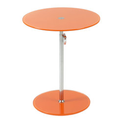 Eurostyle - Radinka Side Table, Orange - When you place a lamp on this fantastic side table, the lamp just shines … literally and figuratively. The circular top and base are beautiful bookends to the slender column, which work to present any displayed item in its best light.