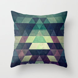 Purple Pattern Pillow Cover - The hypnotizing Purple Pattern Pillow Cover plays with shades of purple for a striking geometric look. Made of 100% polyester poplin, each double-sided pillow cover has been individually cut and sewn by hand. A concealed zipper makes the pillow cover easy to clean.