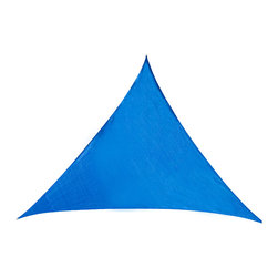 Cool Area - Cool Area Triangle Oversized 16 Feet 5 Inches Sun Shade Sail, Blue - Cool Area shade sail is a stylish and effective shade solution that fit most outdoor living space. You can creatively design your own little shady area in a courtyard, pool, gardens, childrens' play areas, car spaces, and even entry ways. The heavy duty Polyethylene material will keep you cool and out of the hot sun.