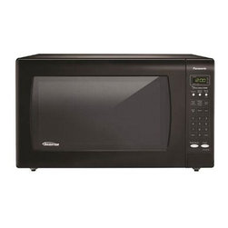 Panasonic - 1250W, 2.2 Cu Ft. Sensor, Black Body and Door, 5 Button Panel, One Touch - The Panasonic NN-SN933B 2.2 Cu. Ft. 1250W Genius Sensor Microwave Oven with Inverter Technology, in black, is perfect for the countertop. Unlike other microwave ovens, Inverter technology delivers a seamless stream of cooking power, even at lower settings, for precision cooking that preserves the flavor and texture of your favorite foods. With Inverter, you can poach, braise and even steam more delicate foods, all with the speed and convenience of a microwave! With the touch of our Genius Sensor cooking button, this microwave takes guesswork out of creating a great meal by automatically setting power levels and adjusting cooking or defrosting time. The sensor measures the amount of steam produced during cooking and signals the microprocessor to calculate the remaining cooking time at the appropriate power level. Plus with Turbo Defrost, you can thaw foods faster than ever!