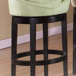 Armen Living - Igloo Green Microfiber 26in. Swivel Barstool - Igloo barstool is a great contemporary 26 inches swivel barstool in an easy to clean green microfiber cover.