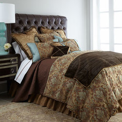 "Dian Austin Villa - Dian Austin Villa King Duvet Cover, 108"" x 95"" - Exclusively ours. With rich tones of teal and bronze conjuring beautiful images of Italy's Amalfi Coast, this bedding ensemble from Dian Austin Villa is a stunning choice for the master bedroom. Handcrafted in the USA of imported materials: silk-like...."