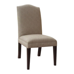 """Hooker Furniture - Decorator Chair - Dining Side Chair 75 - Set of 2 - White glove, in-home delivery included!  Fabric: Muse Linen  Finish: Ludlow  Seat Height: 19""""  Set of two chairs."""