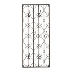 Benzara - Elegant Metal Wall Hook Panel - Elegant Metal Wall Hook Panel. This elegant yet stylish wall hook panel will give your home a renewed look. Some assembly may be required.