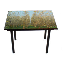 Poplar Trees Table/Wall Art - It's a table; It's wall art. It's BOTH, and It's Made In the USA!