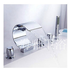 NEW*Contemporary Chrome Finish Waterfall Stainless Steel tub Faucet HW2047C - Specifications