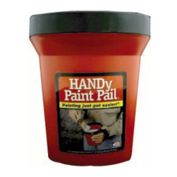 Handy Paint Pail Disposable Paint Tray - Instead of twisting your hand to hold a quart or gallon can, pour some paint in this small pail. It's lightweight and has a magnet to hold your brush. So when you're up on that ladder, you'll have a place for all your paint supplies.