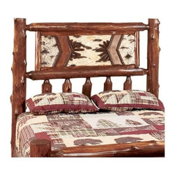 Fireside Lodge - Adirondack Slat Headboard - The construction of the product is hand-peeled, which leaves the natural character and beauty of the log intact and gives a more rustic appearance to the piece. Features: -Traditional style.-Made in the USA.-Nothern White cedar construction.-Adirondack collection.-Distressed: No.Dimensions: -California King: 65'' H x 76'' W.-Twin: 65'' H x 45'' W.-Full: 65'' H x 58'' W.-Queen: 65'' H x 64'' W.-King: 65'' H x 82'' W.Warranty: -Fireside Lodge provides 2 years limited warranty.