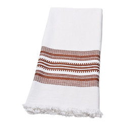 Sobremesa by Greenheart Terracotta Handwoven Towels, Set of 4
