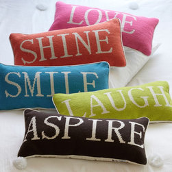 Word Pillow Collection - Say something without speaking a word. These pillows make a statement.