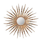 Safavieh - Safavieh Sun Contemporary Mirror X-A6003RIM - Tones of vibrant coppers, bronzes and golds infuse the Sun Mirror with a lively energy. Carefully wrought iron rays, some with angled tips, add yet another layer of dimension. The Sun Mirror is perfect on its own or grouped with other wall art for added drama.
