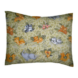 SheetWorld - SheetWorld Twin Pillow Case - Percale Pillow Case - Animal Forest - Made in USA - Twin Pillow Case. Made of an all cotton percale fabric. Features the cutest Animal Forest print.