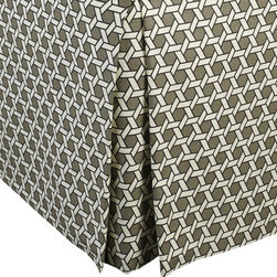 """Mystic Valley - Mystic Valley Traders Shangri-la - King Bed Skirt - The Shangri-la bed skirt is fashioned from the Oasis fabric; it is lined and tailored with a 16"""" drop."""