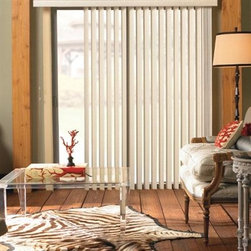 Levolor Vertical Blinds - Levolor PVC Verticals. Whites and off-whites,Neutrals - Levolor PVC Verticals - Buy with Confidence, Get Free Samples Today!Levolor Vinyl Vertical Blinds give you more control over the operation of your blind. These versatile blinds are a great solution for covering sliding patio doors and large picture windows. The unique shape creates a tighter closure and provides greater privacy. It also gives a flowing look to your window, that imitates the look of a drapery, but with superior light control. Choose from dozens of colors, textures and styles.  Vanes are either crowned or s-shaped.