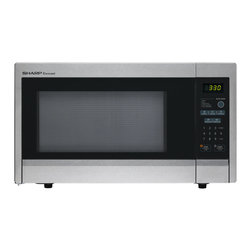 "Sharp - 1.1 cu ft 1000w touch microwave, 11.25"" turntable - 1.1 cubic foot capacity microwave oven with 1000 watts of power