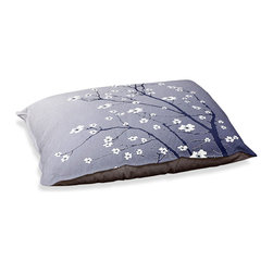 """DiaNoche Designs - Dog Pet Bed Fleece - Blooming Tree Blue Grey - DiaNoche Designs works with artists from around the world to bring unique, designer products to decorate all aspects of your home.  Our artistic Pet Beds will be the talk of every guest to visit your home!  BARK! BARK! BARK!  MEOW...  Meow...  Reallly means, """"Hey everybody!  Look at my cool bed!""""  Our Pet Beds are topped with a snuggly fuzzy coral fleece and a durable underside material.  Machine Wash upon arrival for maximum softness.  MADE IN THE USA."""