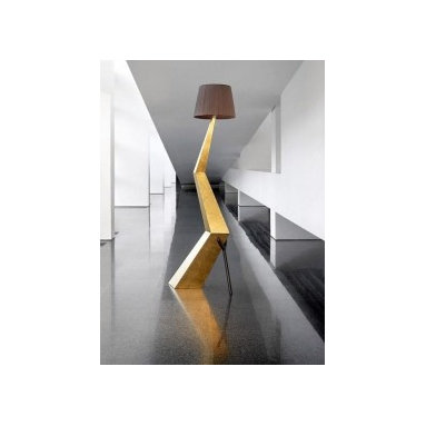 Eco Friendly Furnture and Lighting - Inspired by Salavador Dali. Handmade with sustainable wood covered in gold leaf. The lamp shape is made of cotton.