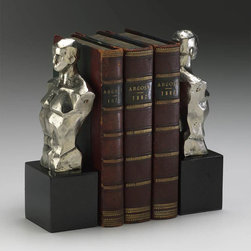 Cyan Design - Hercules Bookends - Hercules bookends - chrome with black granite base