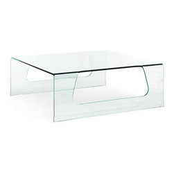 ZUO - Campaign Coffee Table - Clear glass beautifully hosts orchids, dignified coffee table books, or your morning mug of coffee. The Campaign Coffee Table is made of tempered glass with a smooth design. Fits seamlessly into any decor.
