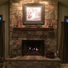 Contemporary Fireplaces by Lakes Brick and Block