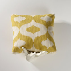 Homeware - Homeware Ikat Contemporary Accent Throw Pillow Set - Set of 2 - HWP011-18-104SUN - Shop for Pillows from Hayneedle.com! Add a bit of panache and pattern to your room with the Homeware Ikat Contemporary Accent Throw Pillow Set - Set of 2 You'll enjoy the comfort and contemporary appeal of this pair in any setting. Available in your choice of size and color. Not available for sale in or delivery to the state of California. About HomewareHomeware is driven by an innovative spirit and a passion to change the way America buys and lives with furniture. Homeware wants to save you from shopping in a big box bringing home a smaller box and ultimately being psychologically harmed by your encounter with a slew of parts and incomprehensible assembly instructions. Instead of that Homeware supports your choice to shop in your jammies and Homeware is determined to support your success. Homeware chairs are made to live and move with you. They come to you in two pieces within two special boxes and regardless how rudimentary your handyman skills may be YOU can assemble them without tools. Within minutes they assure you you will be enjoying a chair that's as sturdy and solid as any you've beheld. The secret? It's designer and engineer Jon Koch's ingenious and revolutionary fastening device which makes possible speedy chair assembly by the mechanically uninitiated. Homeware keeps a stable of furniture savants on call 24-7 to answer your questions including but not limited to questions about their chairs and pillows and they stand behind their products with bravado.