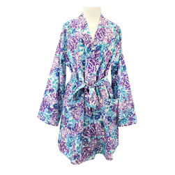 Divine Designs - Laurel florals Robe - A gorgeous floral print in a shabby chic pattern