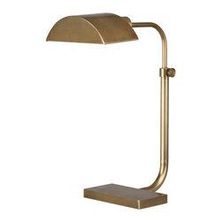 Robert Abbey - Robert Abbey Koleman Adjustable Task Table Lamp 460 - Aged Brass Finish