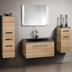 VITUN Bathroom Vanity only - Very fashion bathroom vanity unit,with glass tempered glass counter top