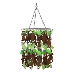 WallPops Monkey Chandelier - These day-glow fixtures are sold as chandeliers, but I like them as mobiles. What baby wouldn't be dazzled by these eye-catching monkeys swinging from trees? When the tot grows, convert it into a lamp.