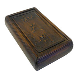 Golden Lotus - Hcs696-4 Chinese Huali Rosewood Handcrafted Storage Box - This is a decorative box made of Huali rosewood and crafted into rectangular shape with pull out lid.