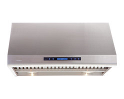 """Ariel - Cavaliere AP238-PS83 36"""" Under Cabinet Range Hood - Cavaliere Stainless Steel 360W Under Cabinet Range Hood with 4 Speeds, Timer, LCD Keypad, Stainless Steel Baffle Filters, Heat Lamps & Halogen Lights"""