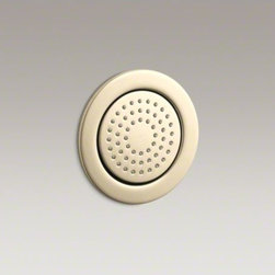 KOHLER - KOHLER WaterTile(R) round 54-nozzle bodyspray with soothing spray - WaterTile bodysprays lie virtually flush to the wall and can be placed almost anywhere. This round 54-nozzle configuration delivers a relaxing spray for a soothing hydrotherapy experience.