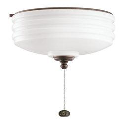 DECORATIVE FANS - KICHLER FANS 380901WCP Weathered Copper Ceiling Fan Light Kit - DECORATIVE FANS 380901WCP Weathered Copper Ceiling Fan Light Kit
