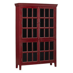 Rojo Red Tall Cabinet - The Rojo cabinet is one of my favorite pieces. I used it in one of my client's homes last year, and I just love how it instantly warmed up the room and created a beautiful focal point. The red isn't overwhelming and can easily be toned down with neutral surroundings. I think it's extra perfect for displaying holiday collections.