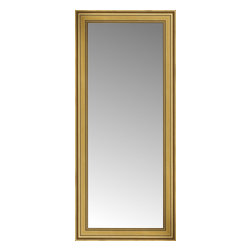 """Posters 2 Prints, LLC - 26"""" x 56"""" Arqadia Gold Traditional Custom Framed Mirror - 26"""" x 56"""" Custom Framed Mirror made by Posters 2 Prints. Standard glass with unrivaled selection of crafted mirror frames.  Protected with category II safety backing to keep glass fragments together should the mirror be accidentally broken.  Safe arrival guaranteed.  Made in the United States of America"""