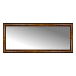 """Posters 2 Prints, LLC - 50"""" x 21"""" Belmont Light Brown Custom Framed Mirror - 50"""" x 21"""" Custom Framed Mirror made by Posters 2 Prints. Standard glass with unrivaled selection of crafted mirror frames.  Protected with category II safety backing to keep glass fragments together should the mirror be accidentally broken.  Safe arrival guaranteed.  Made in the United States of America"""