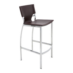 Lisbon Bar Stool, Set of 2, Chocolate