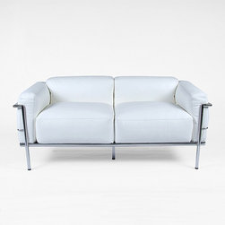 Modern Classics - Le Corbusier: Grand Confort  Loveseat Reproduction - Features: