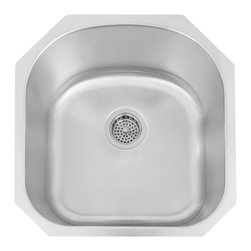 Infinite D-Shaped Stainless Steel Undermount Sink - This professional D-shaped sink is made to accommodate your natural arm movements when using the sink. Handcrafted from 16-gauge stainless steel.