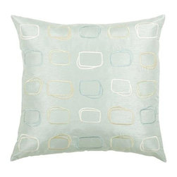 Rizzy Home - Aqua and Beige Decorative Accent Pillows (Set of 2) - T03570 - Set of 2 Pillows.